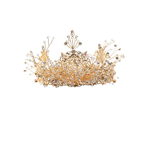Golden Hair Hoop Hochzeit Kopfschmuck Haarnadel Diamant-Haar-Clips Hochzeitszubehör (Color : Gold)