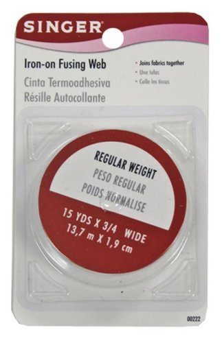 Singer Iron-On Fusing Web, Regular Hold, 15 yards x 3/4 wide (Pack of 6)