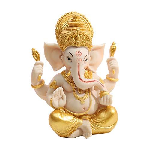 Amagogo 4'Ganesh Elefante Señor Estatua Fengshui Buda Ganesha Resina Decoración Oro