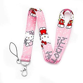 Hello Kitty Cartoon Print Lanyard Key Chain ID Badge Holder Clip  LY-Kitty-A