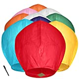 Maylai Handmade 10 Pack Chinese Lanterns Flying Paper Lanterns Wish Lanterns for Birthday Wedding New Year Party Anniversary Assorted Colors 100% Biodegradable