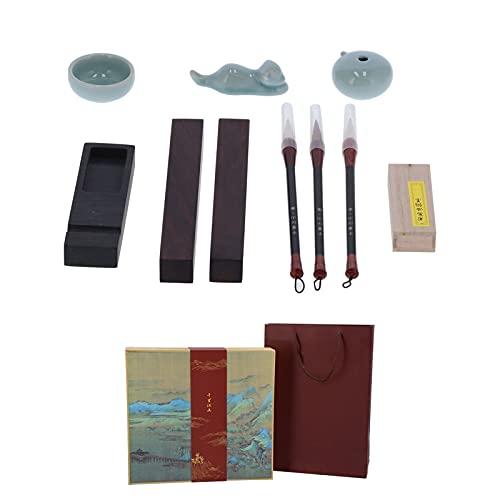 Juego de caligrafía, juego de caligrafía china, duradero, fácil de usar, portátil para la escuela, para entusiastas de la escritura
