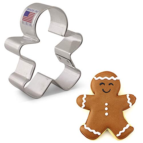 Ann Clark Cookie Cutters Happy Gingerbread Man Cookie Cutter, 3'