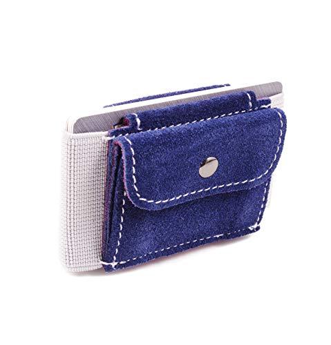 MakakaOnTheRun Premium Portafoglio Sottile & portafoglio con tasca moneta mini per donne degli uomini piccola borsa, titolare della carta minimalista cuoio di grano superiore