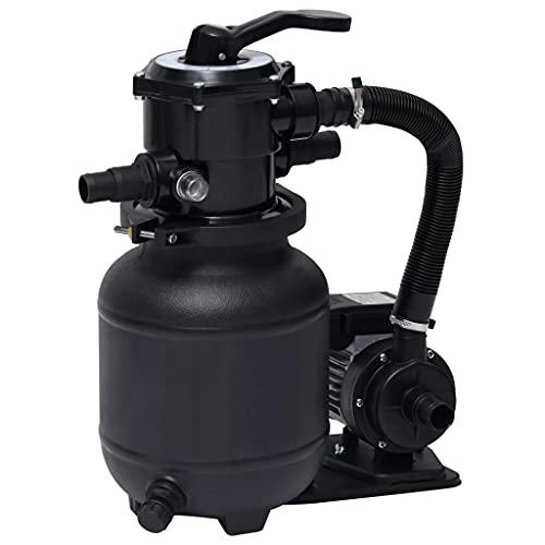 vidaXL Pompe de Filtration à Sable avec Vanne à 7 Positions Pompe de Filtration de Piscine Filtre à Sable Système de Filtration Extérieur 18 L