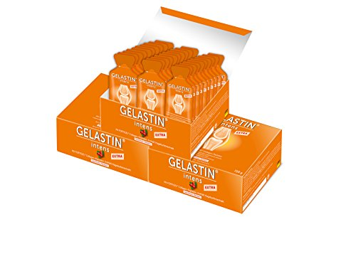 GELASTIN intens Extra Gel bei Arthrose und Gelenkschmerzen (bilanzierte Diät),3-Monatspackung, 90 kleine Portionsbeutel perfekt für Unterwegs