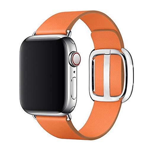 De Galen DIY Moderne Schnalle Band für Kompatibel mit Apple Watch 5 3 Band 4mm/40m 42mm/38mm Correa Leder Armband Watch Zubehör iWatch Series 5 4 3 2 Uhrenarmband