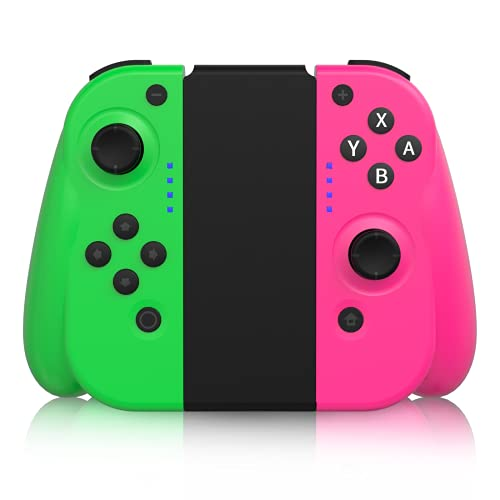 STOGA Wireless Controller for Nintendo Switch/Switch Lite, Joy-Con Controller Replacement for Switch Joypad Console with Motion Control & Dual Shock –Pink/Green