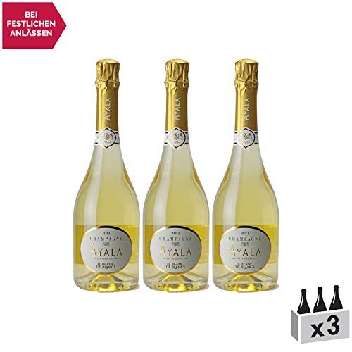 Champagne Blanc de Blanc 2013 - Maison Ayala - Rebsorte Chardonnay - 3x75cl