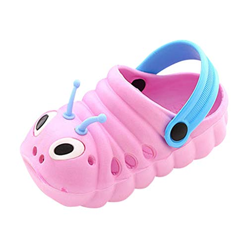 BaojunHT Kleinkind Baby 3D süße Cartoon Hausschuhe Clogs Pantoletten für Jungen Mädchen Strand Pool Garten Haus Slipper Sandalen (Stil A _ Pink, 21)