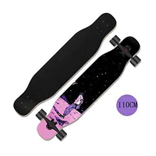 Adulti Doppia Warped Surf lungo il bordo di legno Skateboard Girl Maschio Principiante Versione...