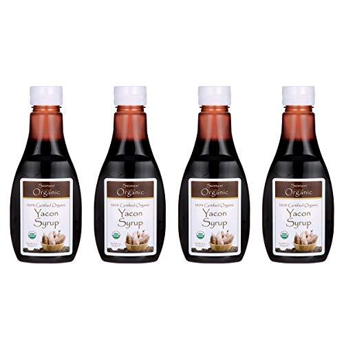 Swanson 100% Certified Organic Yacon Syrup 14 oz Liquid 4 Pack