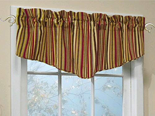 allen + roth 18L Red Modena Tapered Valance