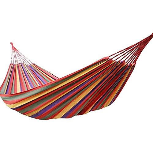 Hamaca Cama Colgante Individual Hamaca portátil para Acampar Juego de Correas de árbol livianas para Viajes Playa Patio Trasero