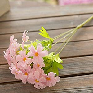 Artificial and Dried Flower Simulation Flower Small Daisy Cosmos Fake Flower Wedding Decor Home Decoration Living Room Display Silk Flower