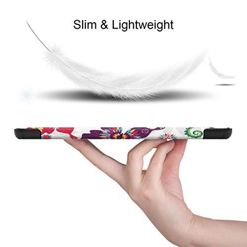 Lobwerk Schutzhülle für Samsung Galaxy Tab A7 SM-T500 T505 Slim Case Etui mit Standfunktion und Auto Sleep/Wake Funktion