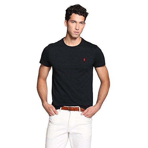 Ralph Lauren Camiseta para Hombre Custom Fit (XL, Negro)