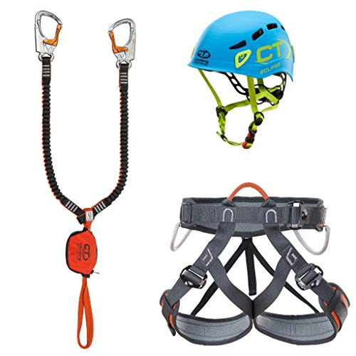 Climbing Technology - Kit Ferrata Plus Eclipse, Juego Unisex para Adulto, Multicolor, Talla única
