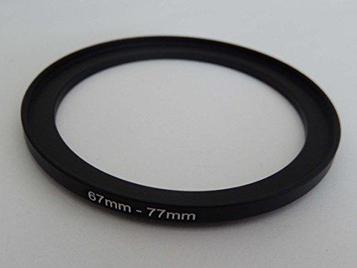 vhbw Adaptador de Filtro Step up 67mm-77mm Negro para cámaras Tamron 16-300 mm F3.5-6.3 Di II VC PZD Macro