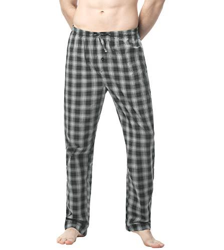 LAPASA Uomo Pantaloni da Pigiama in 100% Cotone/Flanella a Quadri Pigiama Quadretti da Casa Abbigliamento da Notte M38&M39