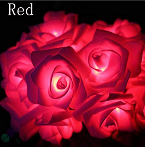None/Brand 2M/3M/4M/5M/10M Battery Operated LED Rose Flower Lights Christmas Holiday String Lights for Valentine Wedding Decoration