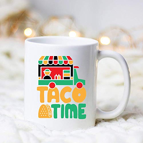 N\A Food Truck Taco Time Mug Food Truck Food Truck Lover Taco Tuesday Taco Truck Food Lover Funny Food Truck Food Truck Party