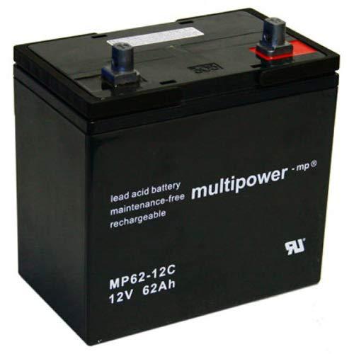 Multipower Bleigel Akku MP62-12C 12v 62000 mAh/für Rollstühle/Golf-Caddy /Zyklenfest