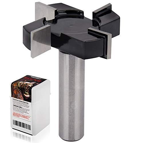 Brocas para fresadora de superficie de spoilboard CNC, vástago de 1/2 pulgada de diámetro de corte de 2 pulgadas, fresadora de losa de aplanado, fresadora de madera, herramienta de carpintería
