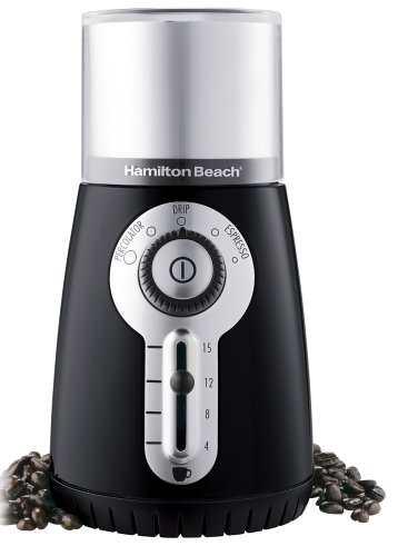 Hamilton Beach 80374 Custom Grind Hands-Free Coffee Grinder, Black (Discontinued)