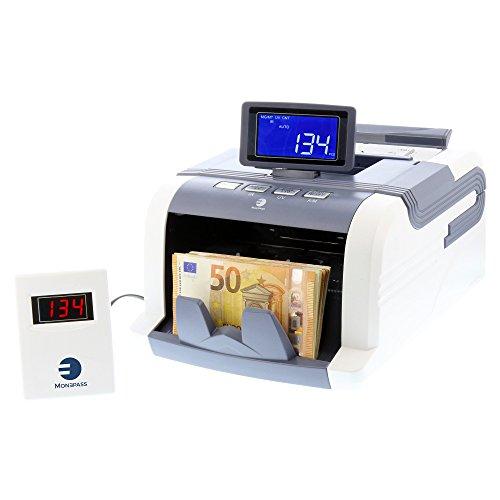 COMPTEUSE DE BILLETS Quadruple détection des faux billets UV MG MT IR + Technologie 2D - Garantie 2 ans