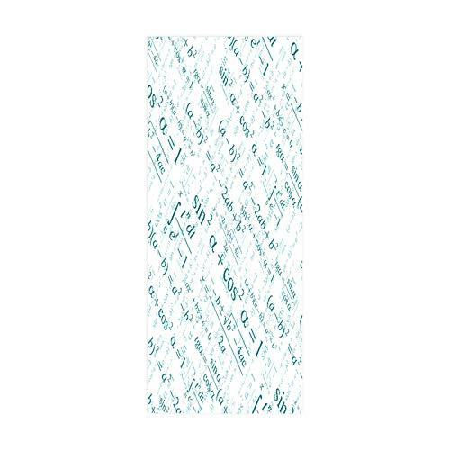 Pegatina para Puerta, póster, calcomanía artística, decoración del hogar para Dormitorio, Vida, fórmula matemática, tamaño 90 * 200 cm