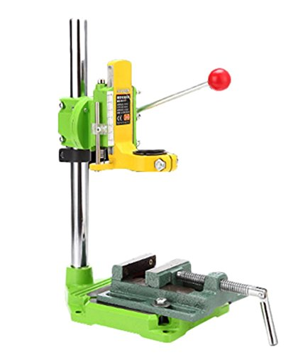 Cheapest Prices! Floor Drill Press stand with cast iron vise/Rotary Tool Workstation Drill Press Wor...