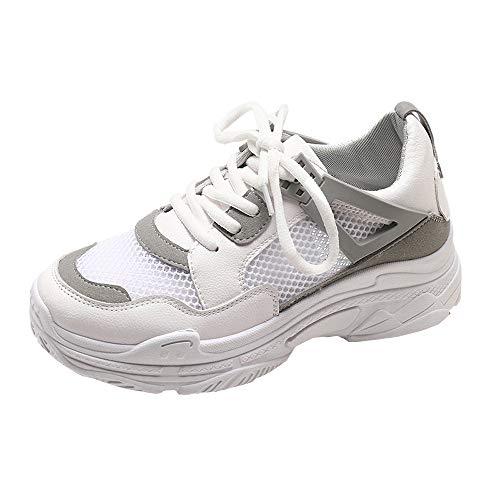 Zapatos Deportes Casual de Malla para Mujer,Sonnena Calzado Deportivo Casual para Mujer al Aire Libre Sneakers de Malla Transpirable de Suela Gruesa