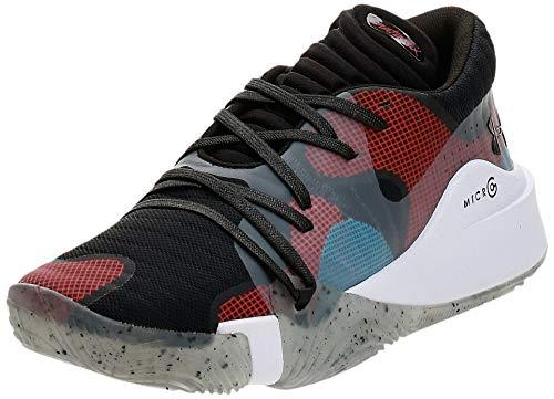 Under Armour Spawn Low Zapatos de Baloncesto Hombre, Negro (Black/ White/ Black (002) 002), 42.5 EU