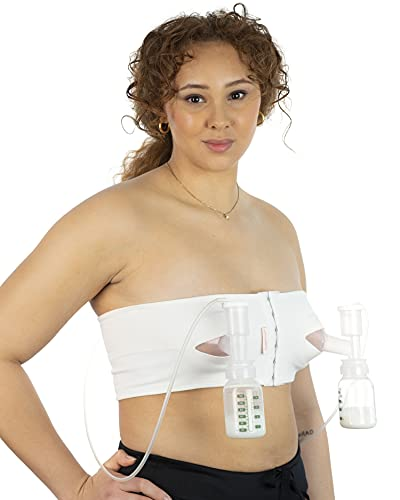 PUMPEASE Organic Hands-Free Pumping Bra (Medium)