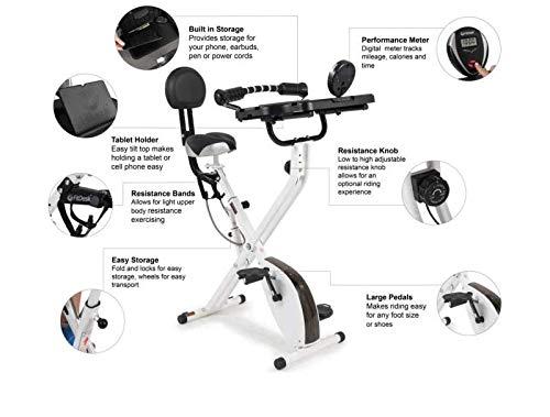 FitDesk Bike Desk 3.0 – Folding Stationary Exercise