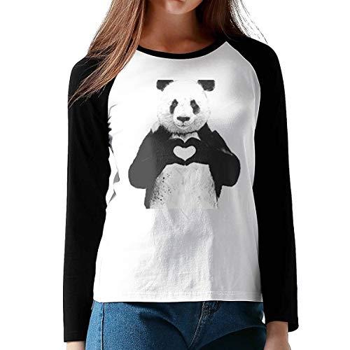 Ccgtq Panda Love Art Womens Girls Long Baseball T Shirts