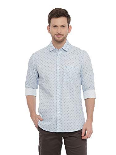 SWISS CLUB Mens Printed Casual wear Full Sleeves Slim Fit Shirt(S-SC-51B-FS-PRT-SF_3XL) Blue