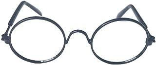 Dream 猫用メガネ 猫眼鏡 犬ゴーグル 眼鏡 メガネ アクセサリー 紫外線対策 UVカット 日焼け対策 保護 撮影物 ペット用 チワワ (ブラック)