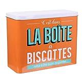 Paris Prix - Boîte De Conservation'ma Boîte à Biscottes' 23cm Orange