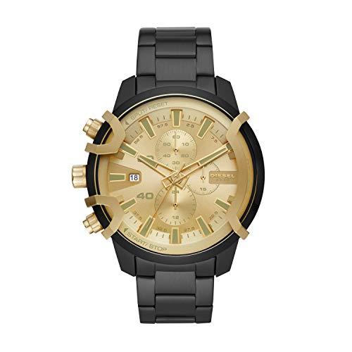 Diesel Herren Chronograph Quarz Uhr mit Edelstahl Armband DZ4525