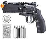 Elite Force H8R Gen2 C02 BB Revolver Airsoft Gun with 5x12 CO2 Tanks and Wearable4U 1000ct BBS Bundle (Airsoft Gun + CO2 + BBS)