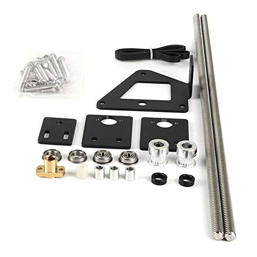 3D Printer Accessory Dual Double Z Axis Set Leading Screw Rod Kit with Stepper Motor Replacement Compatible with Ender