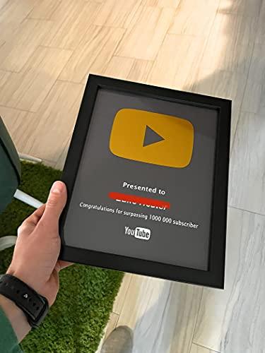 Custom Creator Awards | TikTok, Instagram, Youtube, Spotify, Twitch, Facebook, Beatport | 8x10 Framed Social Media Plaque