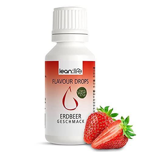Lean:Life Flavour Drops - Aroma Tropfen - Erdbeere - vegan, zuckerfrei, glutenfrei - ohne Kalorien - Made in Germany - 30ml