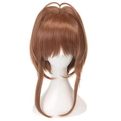 No branded Haar Perücke Kurze synthetische Perücke mit Pony braune Farbe mit hoher Dichte natürliche Schlagzeile hitzebeständige Haarperücken for Frauen