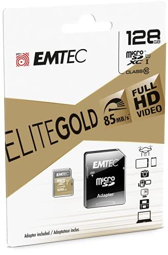 Emtec ECMSDM128GXC10 EliteGold 128GB microSDXC Speicherkarte - Highspeed