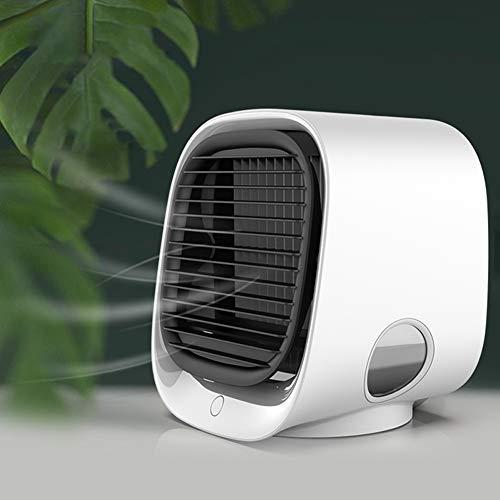 Premium Mini Air Conditioner Fan,Portable Air Cooler, Adjustable USB Desk Fan,Air...