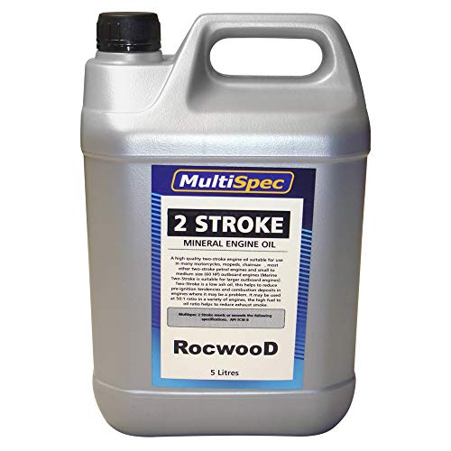 RocwooD Two Stroke Engine Oil 5 L Litre For Chainsaw Strimmer Brushcutter Cut Off Saw