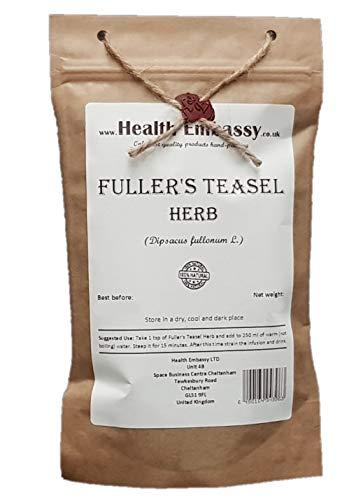 Health Embassy Wilde Karde Kraut Tee (Dipsacus Fullonum L.) / Fuller's Teasel Herb Tea, 100g